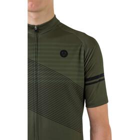 AGU Essential Striped SS Jersey Men, army green